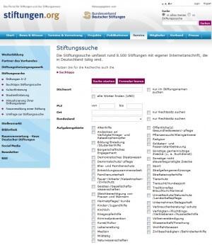 stiftungsindex.de - Stiftungsverzeichnis des Bundesverbands Deutscher Stiftungen